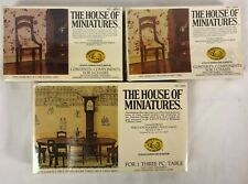 House of Miniatures Hepplewhite Dining Room Table #40006 Chairs 40007 New