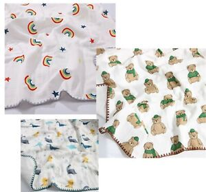 Baby Cotton Blanket Swaddle Summer Throw For Newborn Bath Towel Infant Receiving
