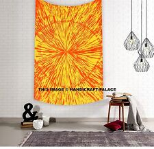 Hand Tie dye Indian Cotton Wall Hanging Abstract Print Tapestry Hippie Throw Art