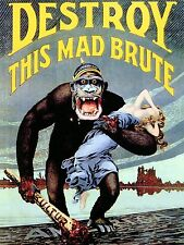 Destory This Mad Brute WWI Poster High Quality Metal Magnet 3 x 4 inches 9587