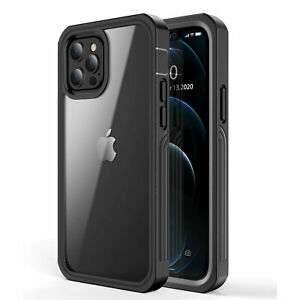 For iPhone 13 12 Pro Max XS MAX XR Full Clear Cover Shockproof Case Slim Bumper