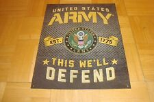 "MAN CAVE: United States ARMY  Retro Design Tin-Metal Sign 16"" x 12""     NEW"