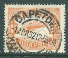 SOUTH AFRICA 1929 Airmail used 1/- stamp SG41
