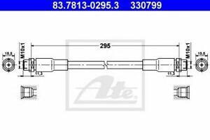 Flexible de frein AUDI A4 (8D2, B5) A4  (8D2, B5) A4 Avant (8D5, B5) A6 (4B2, C5