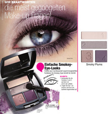AVON TRUE COLOUR Lidschatten QUARTETT Palette SMOKY PLUMS 4 Farben Lila