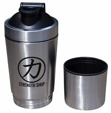 Strength Shop Stainless Steel Shaker with Compartment and Mixing Ball