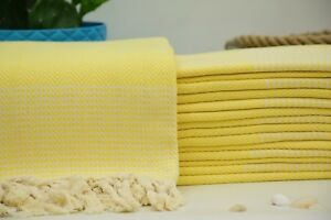 100x180cm Organic Cotton Towel,40x70 Turkish Beach Towel,Yellow Towel,Picnic Bkr