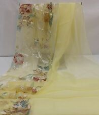 Scarf,Shawl,Wrap - Yellow Floral on One Side