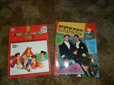 1990 New Kids On The Block Scrapbook & Paint' N' Marker Book Unused Nkotb