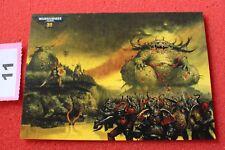 Juegos taller Warhammer 40k 30th aniversario obras de arte Tarjeta Arte Nuevo Postal D4