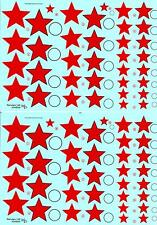 KV Decals 1/48 SOVIET EARLY RED STARS TYPE 2 Russian National Markings