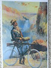 Winchester Rifle on Pedal Bike,Yellowstone Park Poster