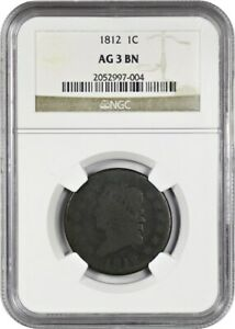 1812 1c NGC AG-03 BN - Classic Head Large Cents (1808-1814)
