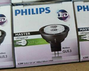Philips GU5.3 LED Bulbs 4.5w=20w 207 Lumens Master x20