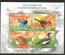 INDIA 2006 ENDANGERED BIRDS    MNH  SHEETLET 5  [#1606]