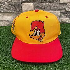 Vtg 90s Woody Woodpecker Blockhead Snapback Hat Cap Toon American Needle RARE