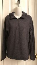 Lululemon Black Gray Pullover Hoodie Sweater Size 6? (A18)