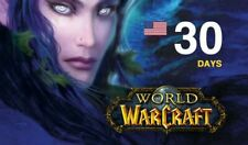 World of Warcraft 30 Days Game Time - WoW Bfa / Classic  USA/NA/Oceanic Servers