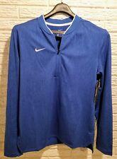 Nike Mens Dri-Fit Zip Pullover (Medium) Blue Nwt.