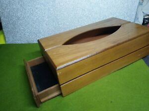 Hidden Compartment Tissue Dispenser Box Wooden  Drawer