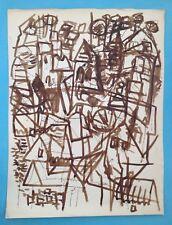 David LAN-BAR (1912-1987) Encre de 1956 signée 76x57cm LANSKOY ZAO WOU KI etc...