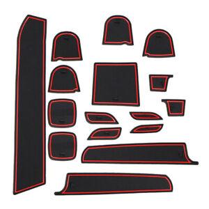 16Pcs Inner Gate Slot Pad Anti-Slip Cup Mat Fit For Suzuki Swift 1.2 Sport 11-17