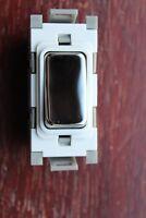 DETA G3502CHW Grid Module 10A 10AX 2 way light switch white chrome rocker