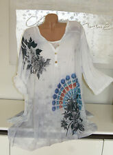 Geblümte Hüftlang Damenblusen,-Tops & -Shirts im Tuniken-Stil für Party