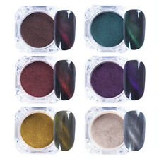 6PCS Nail Cat Eye Magnetic Powder Glitter UV Gel Dust 3D Art Manicure Decoration