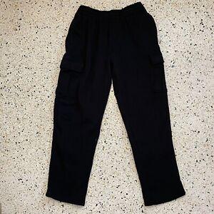 Umbro Pants Adult Large Black White Logo Casual Sweatpants Warm Up Sports Mens