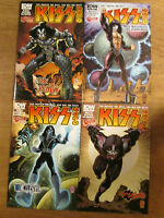 KISS SOLO 1 2 3 4; Gene Paul Ace Peter Jetpack variant cover set IDW comics