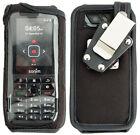 Black Rugged Nylon Form-Fit Case Cover + Metal Belt Clip for Sonim XP5s XP5800