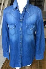 Diesel DE-VIVY-STA Shirt Button Front Denim Long Sleeve XS