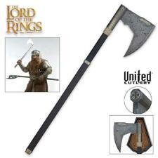 Il Signore degli Anelli AXE di Gimli CON PLACCA United Cutlery con licenza ufficiale da collezione