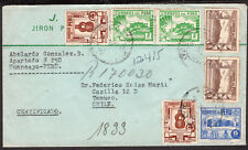 3002 Peru To Chile Registered Cover 1948 Huancayo - Temuco
