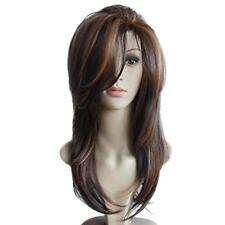 """16"""" Perruque Femme Longue Couleur Mix Naturelle Raide en Layer en Cheveux"""