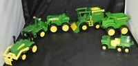 Mixed Lot of 6 John Deere Toys Little People Tractor Combine Dump Truck Mower