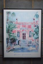 HOUSE in CORFU Watercolor Print by FRANKIE CRANFIELD with Frame
