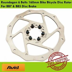 Avid Roundagon 6 Bolts 160mm Bike BIcycle Disc Rotor For BB7 & BB5 Disc Brake