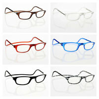 New Magnetic Readers Reading Glasses Convenience Hang Neck +1.0~+4.0
