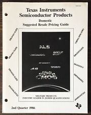 Texas Instruments Military Products Semiconductor Pricing Guide 1986