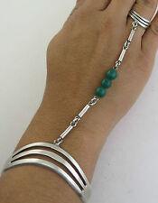 Sleek Taxco Sterling Silver Unique Slave Bracelet - Adjustable Ring Size 6