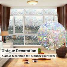 """47""""x 23'' 3D Frosted Window Film Tint Sticker Glass Privacy Home Office Decor US"""