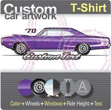 Custom T-shirt for 70 1970 dodge Coronet Super Bee 440 A12 SIX PACK Hemi V8 Fans
