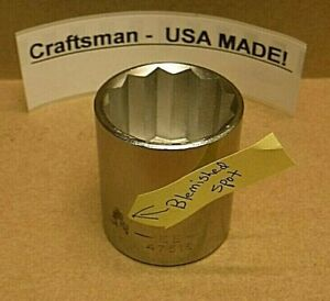 "Craftsman 1-1/8"" Socket  47516 EE USA MADE  NEW"
