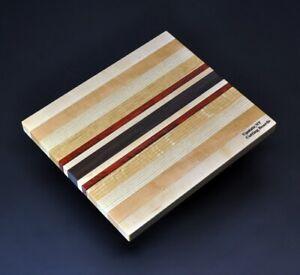 Upstate NY Cutting Board 8.5 x 10 x ¾ Domestic Mixed Hard Woods & Exotic Padauk