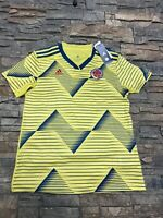 Adidas 2016/17 Colombia Home Soccer Futbol Jersey  FCF H JSY Women's L NWT $90