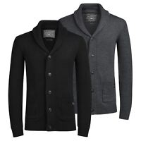 Mens Cardigan Jumper JACK & JONES Inspect  Shawl Neck Button Up Sweater