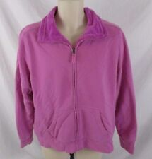 L.L. Bean Womens Jacket Size XL Pink Faux Fur Lined Zip Long Sleeve Winter EE396
