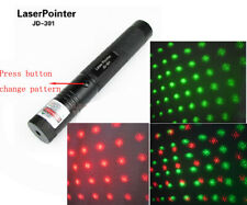 532nm Green red star pattern Laser Pointer Pen Adjustable Focus Visible Light